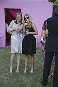 Sue Whiteley and Camilla Long, The Summer Party sponsored by Yves St. Laurent. Serpentine Gallery. 11 July 2006. . ONE TIME USE ONLY - DO NOT ARCHIVE  © Copyright Photograph by Dafydd Jones 66 Stockwell Park Rd. London SW9 0DA Tel 020 7733 0108 www.dafjones.com