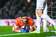 Leeds United goalkeeper Francisco Casilla (13) during the EFL Sky Bet Championship match between Leeds United and West Bromwich Albion at Elland Road, Leeds, England on 1 October 2019.