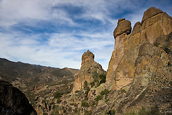 Rock formations along the Juniper Canyon Trail up to High Peaks, Pinnacles National Monument, California, United States of America