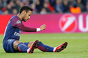 Neymar da Silva Santos Junior - Neymar Jr (PSG) missed to score, on the floor during the UEFA Champions League, Group B, football match between Paris Saint-Germain and RSC Anderlecht on October 31, 2017 at Parc des Princes stadium in Paris, France - Photo Stephane Allaman / ProSportsImages / DPPI