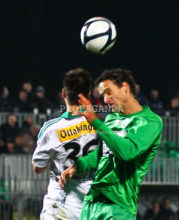 26.11.2011, Pappelstadion, Mattersburg, AUT, 1. FBL, SV Mattersburg vs SK Rapid, im Bild Michael Schimpelsberger, (SK Rapid Wien, #36) vs Alexander Poellhuber, (SV Mattersburg, #2)  during the Austrian Bundesliga Match, SV Mattersburg against SK Rapid, Stadium, Pappelstadion Mattersburg, Austria on 2011-11-26, EXPA Pictures © 2011, PhotoCredit: EXPA/ S. Woldron
