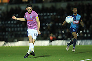 Ian Henderson shoots during the EFL Sky Bet League 1 match between Wycombe Wanderers and Rochdale at Adams Park, High Wycombe, England on 23 October 2018.