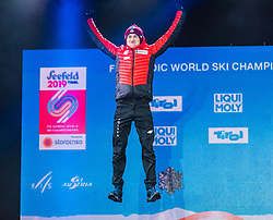 02.03.2019, Seefeld, AUT, FIS Weltmeisterschaften Ski Nordisch, Seefeld 2019, Skisprung, Mixed Team, Siegerehrung, im Bild Silbermedaillengewinner Kamil Stoch (POL) // Silver medalist Kamil Stoch of Poland during the winner Ceremony for the mixed team competition in ski jumping of nordic combination of FIS Nordic Ski World Championships 2019. Seefeld, Austria on 2019/03/02. EXPA Pictures © 2019, PhotoCredit: EXPA/ Stefan Adelsberger