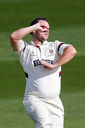 Jim Allenby of Somerset bowls - Mandatory byline: Rogan Thomson/JMP - 07966 386802 - 24/09/2015 - CRICKET - The County Ground - Taunton, England - Somerset v Warwickshire - Day 3 - LV= County Championship Division One.