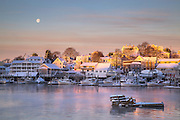 Visit Boothbay Harbor in the winter, and you'll see a town transformed from a kitschy tourist trap into a true Maine fishing village. Most of the stores are closed, the streets empty, and the windjammers and tour-boats gone. It's a welcome change of pace for me. I find myself overwhelmed and annoyed at all of the commotion in the summer. Although I do love going out on a whale watch or catching the ferry to Monhegan from here, and those certainly wouldn't be as fun this time of year.