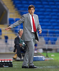 14.08.2013, Cardiff City Stadion, Cardiff, WAL, Testspiel, Wales vs Irland, im Bild Wales' manager Chris Coleman against Republic of Ireland during an International Friendly at the Cardiff City Stadium during the international friendly match between Wales and Ireland at Cardiff City Stadium in Cardiff, Wales on 2013/08/14. EXPA Pictures © 2013, PhotoCredit: EXPA/ Propagandaphoto/ David Rawcliffe<br /> <br /> ***** ATTENTION - OUT OF ENG, GBR, UK *****