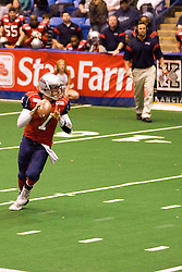 14 March 2009: Mitch Tanney has loads of time in the backfield looking for a receiver. The Sioux Falls Storm were hosted by the Bloomington Extreme in the US Cellular Coliseum in downtown Bloomington Illinois.