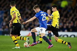 Everton's Luke Garbutt  - Photo mandatory by-line: Matt McNulty/JMP - Mobile: 07966 386802 - 26/02/2015 - SPORT - Football - Liverpool - Goodison Park - Everton v Young Boys - UEFA EUROPA LEAGUE ROUND OF 32 SECOND LEG