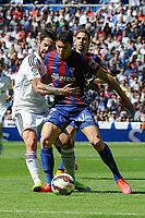 Real Madrid´s  and Eibar´s Ander Capa during 2014-15 La Liga match between Real Madrid and Eibar at Santiago Bernabeu stadium in Madrid, Spain. April 11, 2015. (ALTERPHOTOS/Luis Fernandez)