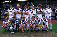 05.06.1988, Pori, Finland..SM-sarja / Finnish League, Porin Pallo-Toverit v RoPS..PPT, back row, left to right: Pasi Sulonen, Vesa Salmela, Olli Ceder, Vesa Rantanen, Jorma Heinonen, Juri Gavrilov. .Front row, l to r: Ari Suonp??, Seppo Lehtikangas, Janne Suokonautio, Seppo Sulonen, N?stor Alfonso..©Juha Tamminen