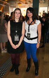 Repro Free: 26 September 2013<br /> Loli Noveo and Marga Gonzales pictured at the Guinness Storehouse, celebrating talent and creativity on Arthur's Day 2013. Picture Andres Poveda