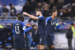 November 14, 2019, Saint Denis, FRANCE: 04 RAPHAEL VARANE (FRA) - 09 OLIVIER GIROUD (FRA) - JOIE - FAIR PLAY (Credit Image: © Panoramic via ZUMA Press)