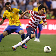 Jose Torres, USA, in action during the USA V Brazil International friendly soccer match at FedEx Field, Washington DC, USA. 30th May 2012. Photo Tim Clayton