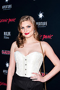 HAYLEY GRIFFITH attends the Los Angeles premiere of Satanic Panic at the Egyptian Theatre in Los Angeles, California.