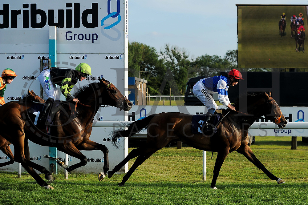 "Horatio Star ridden by Tom Marquand and trained by Brian Meehan in the Play ""Four From The Top"" At Valuerater.Co.Uk Handicap (Value Rater Racing Club Summer Stayers' Qual) race.  - Ryan Hiscott/JMP - 02/08/2019 - PR - Bath Racecourse - Bath, England - Race Meeting at Bath Racecourse"