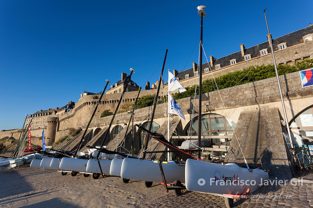 Boats in Saint-Malo, Ille-et-Vilaine, Britanny, France