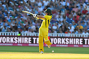 Travis Head of Australia has a wild swing at the ball during the International T20 match between England and Australia at Edgbaston, Birmingham, United Kingdom on 27 June 2018. Picture by Graham Hunt.