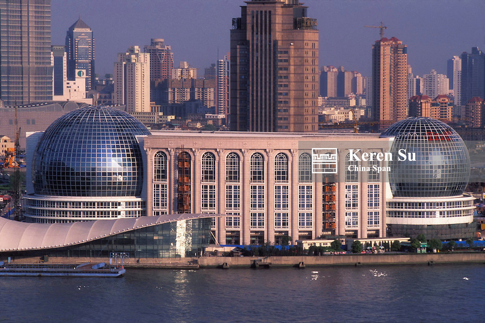 International Convention Center in Pudong area by Huangpu River, Shanghai, China