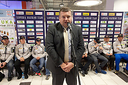 Tomaz Lovse, President  of SZS at press conference of Slovenia Biathlon team before new season 2010 - 2011, on November 24, 2010, in Emporium, BTC, Ljubljana, Slovenia.  (Photo by Vid Ponikvar / Sportida)