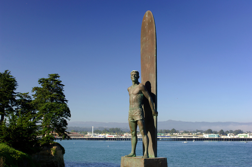 Surf Statue, Lighthouse Field State Park, Santa Cruz, California, United States of America