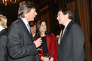 VISCOUNT BOYNE; JULIA HOWARD; PHILIP DUNNE, Celebration of the  200TH Anniversary of the  Birth of Rt.Hon. John Bright MP  and the publication of <br /> ÔJohn Bright: Statesman, Orator, AgitatorÕ by Bill Cash MP. Reform Club. London. 14 November 2011. <br /> <br />  , -DO NOT ARCHIVE-© Copyright Photograph by Dafydd Jones. 248 Clapham Rd. London SW9 0PZ. Tel 0207 820 0771. www.dafjones.com.<br /> VISCOUNT BOYNE; JULIA HOWARD; PHILIP DUNNE, Celebration of the  200TH Anniversary of the  Birth of Rt.Hon. John Bright MP  and the publication of <br /> 'John Bright: Statesman, Orator, Agitator' by Bill Cash MP. Reform Club. London. 14 November 2011. <br /> <br />  , -DO NOT ARCHIVE-© Copyright Photograph by Dafydd Jones. 248 Clapham Rd. London SW9 0PZ. Tel 0207 820 0771. www.dafjones.com.