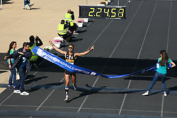 November 13, 2016 - Athens, Greece - The first Greek runner to finish the marathon Christoforos Merousis..50.000 long range runners take part in the 42 killometers long Athens Marathon the Authentic in Greece starting from the City of Marathona and ending at Kalimarmaro Stadium in Athens. (Credit Image: © George Panagakis/Pacific Press via ZUMA Wire)
