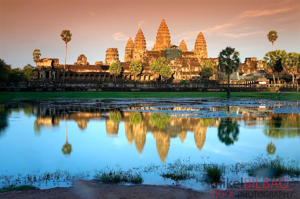 sunset in Angkor Wat. Angkor temples. Cambodia, Asia