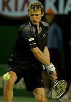 MELBOURNE, AUSTRALIA - JANUARY 30: A dejected Juan Carlos Ferrero during day 12 of the Australian Open January 30, 2004 in Melbourne, Australia. (Photo by Sportsbeat) *** Local Caption *** -