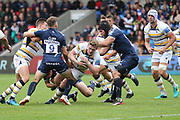Darren Barry Worcester Warriors during the Gallagher Premiership Rugby match between Sale Sharks and Worcester Warriors at the AJ Bell Stadium, Eccles, United Kingdom on 9 September 2018.