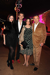 Left to right, NATASHA PRINCE, MARK BURTON and PIERS & SOPHIE ADAM at the End of Summer Ball in support of The Prince's Trust in Berkeley Square, London on 25th September 2008.