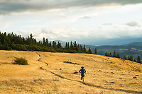 Trail running near Hood River, OR.