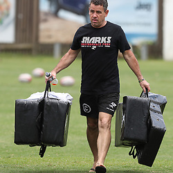DURBAN, SOUTH AFRICA - DECEMBER 06: John Hooper (Masseur) of the Cell C Sharks during the Cell C Sharks training session at Growthpoint Kings Park on December 06, 2016 in Durban, South Africa. (Photo by Steve Haag/Gallo Images)