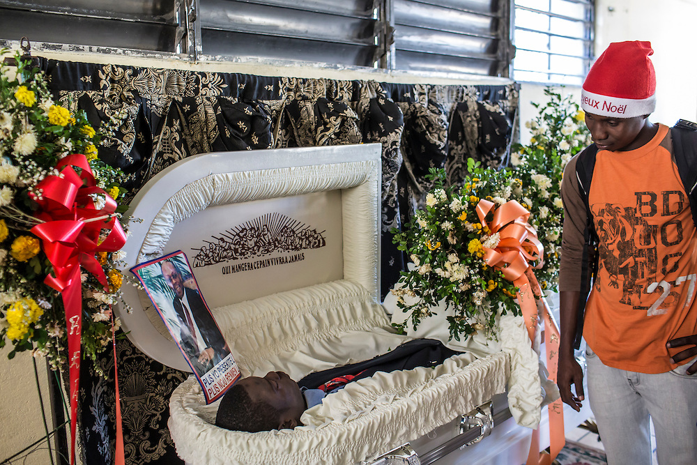 The funeral for Jolin Nicolas, 19, on Monday, December 22, 2014 in Port-au-Prince, Haiti. Nicolas was killed by police while participating in anti-government protests on December 13.