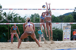 Anastasia Vasina of Russia vs Andreja Vodeb of Slovenia at A1 Beach Volleyball Grand Slam presented by ERGO tournament of Swatch FIVB World Tour 2012, on July 17, 2012 in Klagenfurt, Austria. (Photo by Matic Klansek Velej / Sportida)