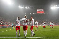 14.11.2016, Stadion Miejski, Wroclaw, POL, Testspiel, Polen vs Slowenien, im Bild JAKUB BLASZCZYKOWSKI POL LUKASZ TEODORCZYK POL RADOSC KAMIL WILCZEK POL // during the international friendly football match between Poland vs Slovenia at the Stadion Miejski in Wroclaw, Poland on 2016/11/14. EXPA Pictures © 2016, PhotoCredit: EXPA/ Newspix/ Michal Chwieduk<br /> <br /> *****ATTENTION - for AUT, SLO, CRO, SRB, BIH, MAZ, TUR, SUI, SWE, ITA only*****