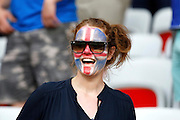 Iceland fan before the Round of 16 Euro 2016 match between England and Iceland at Stade de Nice, Nice, France on 27 June 2016. Photo by Andy Walter.