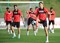 ARLAMOW, POLAND - MAY 31: Jan Bednarek during a training session of the Polish national team at Arlamow Hotel during the second phase of preparation for the 2018 FIFA World Cup Russia on May 31, 2018 in Arlamow, Poland. (MB Media)