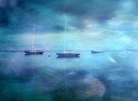 Three Sailboats near Chatham, MA, Cape Cod, U.S.A.