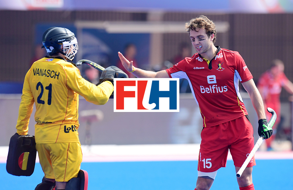 Odisha Men's Hockey World League Final Bhubaneswar 2017<br /> Match id:03<br /> Argentina v Belgium<br /> Foto: VANASCH Vincent (GK) and STOCKBROEKX Emmanuel<br /> WORLDSPORTPICS COPYRIGHT FRANK UIJLENBROEK