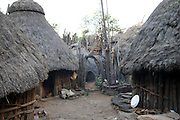 Africa, Ethiopia, Konso tribe Thatched roof hut