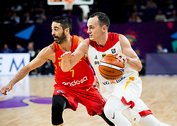 Juan Carlos Navarro of Spain vs Karsten Tadda of Germany during basketball match between National Teams of Germany and Spain at Day 13 in Round of 16 of the FIBA EuroBasket 2017 at Sinan Erdem Dome in Istanbul, Turkey on September 12, 2017. Photo by Vid Ponikvar / Sportida
