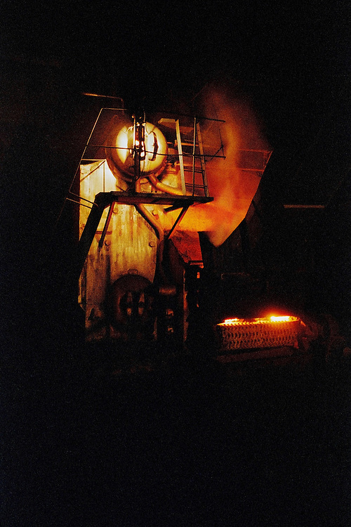 Industrial boiler. Industrial boilers and furnaces consume almost half of China's coal and are the largest single point sources of urban air pollution. Shanxi, China. 2006.