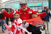Barnsley fans during the Sky Bet League 1 play off final match between Barnsley and Millwall at Wembley Stadium, London, England on 29 May 2016. Photo by Simon Davies.