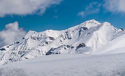 THEMENBILD - Blick auf die tief winterlich verschneiten umliegenden Berge. Die Grossglockner Hochalpenstrasse verbindet die beiden Bundeslaender Salzburg und Kaernten mit einer Laenge von 48 Kilometer und ist als Erlebnisstrasse vorrangig von touristischer Bedeutung, aufgenommen am 2. Mai 2017, Fusch a. d. Glocknerstrasse, Oesterreich // View of the deeply wintry snowy surrounding mountains. The Grossglockner High Alpine Road connects the two provinces of Salzburg and Carinthia with a length of 48 km and is as an adventure road priority of tourist interest at Fusch a. d. Glocknerstrasse, Austria on 2017/05/02. EXPA Pictures © 2017, PhotoCredit: EXPA/ JFK