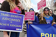 """France, Paris, 15 October 2016. """"EXISTRANS"""", Protest march for equal rights to transgenders. 20th edition's claim is oriented to the equal procedure of the change in marital status."""