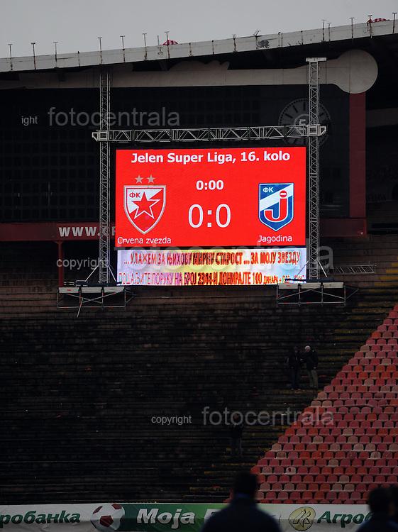 FUDBAL, BEOGRAD, 27. Feb. 2010. - Novi semafor na stadionu Crvene zvezde. Utakmica 16. kola Jelen Superlige Srbije (2009/2010) izmedju Crvene zvezde i Jagodine. Foto: Nenad Negovanovic