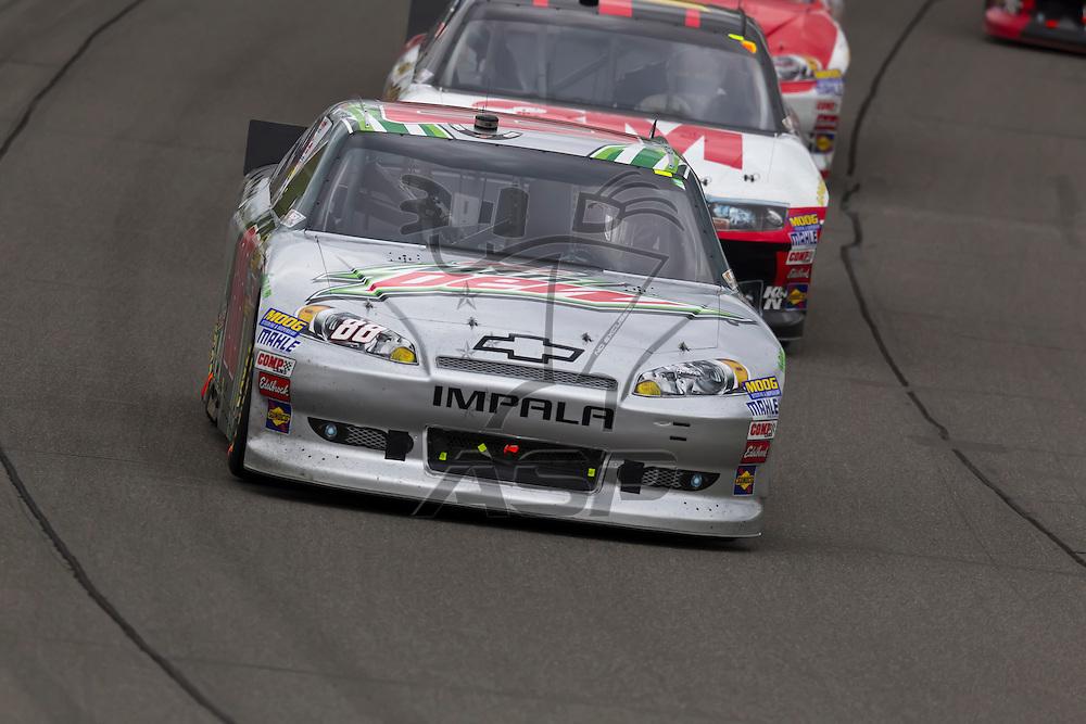 KANSAS CITY, KS - APR 22, 2012:  Dale Earnhardt, Jr. (88) races during the STP 400 at the Kansas Speedway in Kansas City, KS.