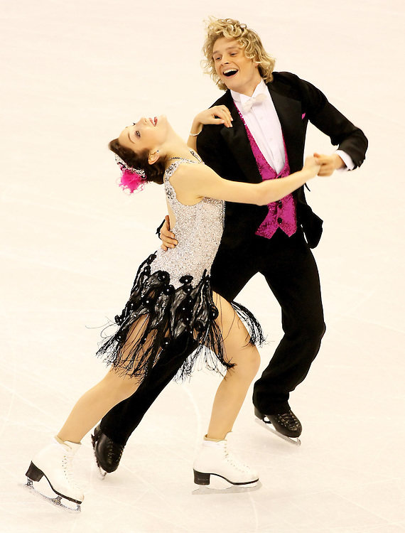 (Ottawa, ON---1 November 2008)  Meryl Davis and Charlie White of the USA compete in the Ice Dance original dance at the 2008 HomeSense Skate Canada International figure skating competition.  Photograph copyright Sean Burges/Mundo Sport Images (www.msievents.com).
