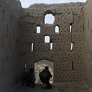 Soldiers from the Afghan National Army (ANA) take positions in a grape hut during Operation Matawarkawel Sheppa in the Pashmul area in Zhari District located west of Kandahar City, Afghanistan. The operation was a Canadian lead effort in coordination with the Afghan National Army (ANA) and Royal Gurkha Rifles from the British Army. The Pashmul area has become well known for frequent insurgent activity and attacks on coalition forces.