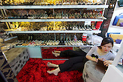 Phnom Penh, Cambodia. Central Market. Shoes.